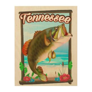 Quadro De Madeira Cartaz da pesca de Tennessee