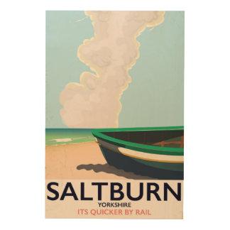 Quadro De Madeira Cartaz das viagens vintage de Saltburn - de