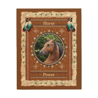 Quadro De Madeira Cavalo - canvas da madeira do Poder