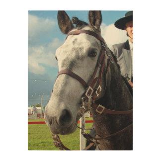 Quadro De Madeira Cavalo puro da raça