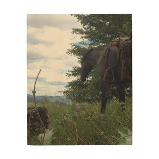 Quadro De Madeira Cavalo que pasta a arte de madeira da parede