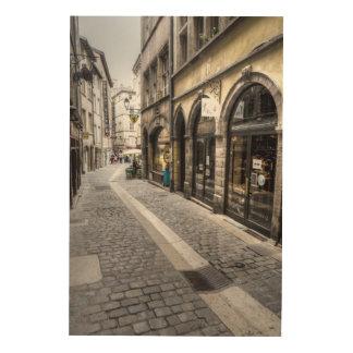 Quadro De Madeira Cena da rua na cidade velha, France