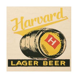 Quadro De Madeira Cerveja de cerveja pilsen de Harvard
