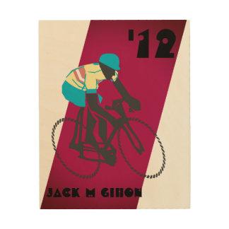 Quadro De Madeira ciclismo do Vintage-estilo