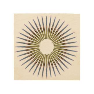 Quadro De Madeira círculo