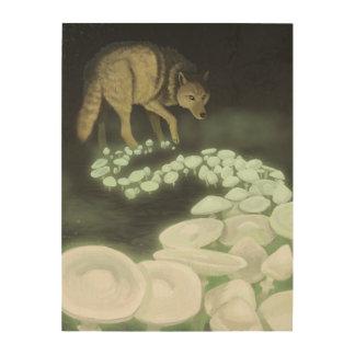 Quadro De Madeira Cogumelos de arrasto da morte do lobo
