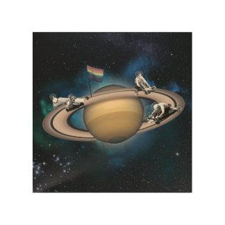 Quadro De Madeira Competência da galáxia