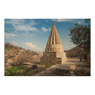 Quadro De Madeira Construção curdo do templo
