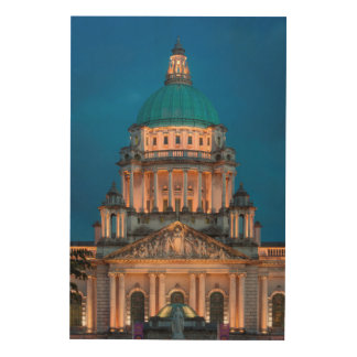 Quadro De Madeira Construção da câmara municipal de Belfast do Lit