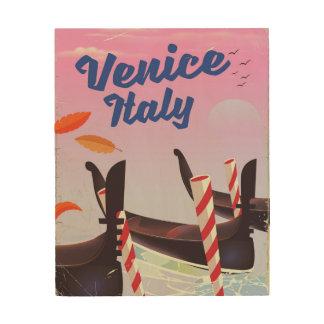 Quadro De Madeira Cópia das férias da gôndola de Veneza Italia
