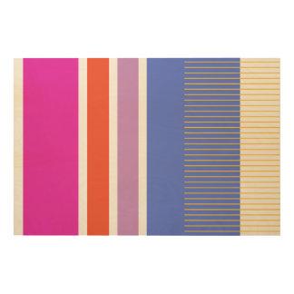 Quadro De Madeira Cores corajosas, design gráfico da multa