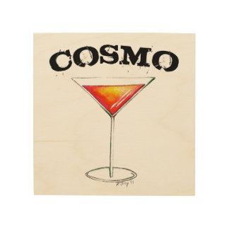 Quadro De Madeira Decoração cosmopolita do bar da bebida misturada