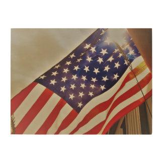 Quadro De Madeira Decoração da madeira da bandeira americana