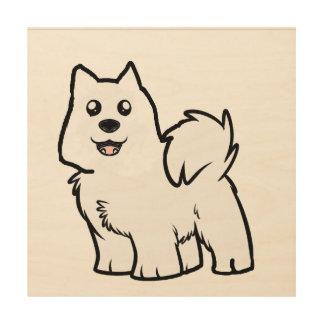 Quadro De Madeira desenhos animados americanos do cão eskimo