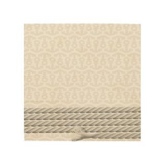 Quadro De Madeira Design náutico branco da âncora com corda