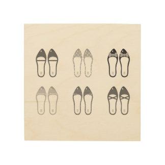 Quadro De Madeira Design original com calçados à moda