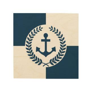 Quadro De Madeira Design temático náutico