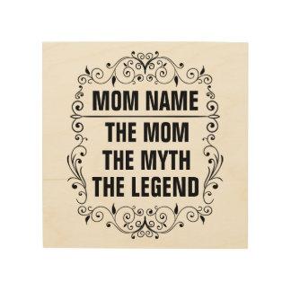 Quadro De Madeira Dia das mães feliz da mamã