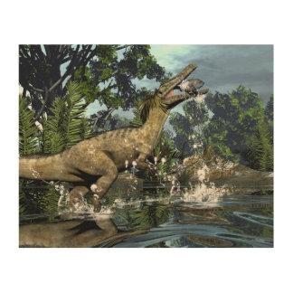 Quadro De Madeira Dinossauro de Austroraptor