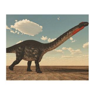 Quadro De Madeira Dinossauro do Apatosaurus no deserto - 3D rendem