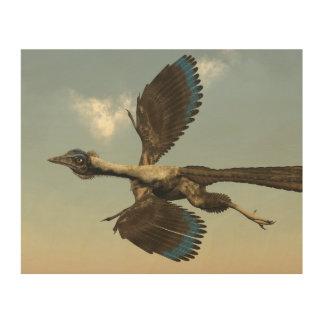 Quadro De Madeira Dinossauros dos pássaros do Archaeopteryx que voam