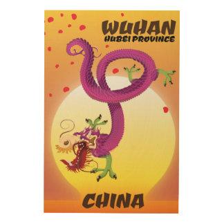 Quadro De Madeira Dragão da porcelana da província de Wuhan Hubei