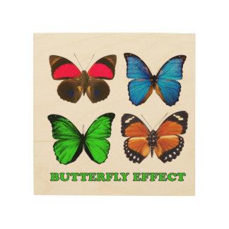 Quadro De Madeira Efeito de borboleta