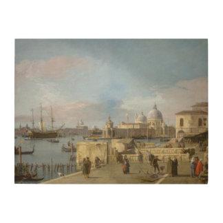 Quadro De Madeira Entrada ao canal grande do Molo, Veneza
