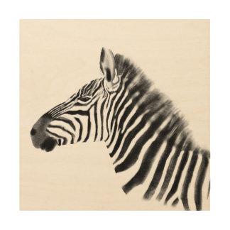 Quadro De Madeira Esboço da zebra das pastagem do Savanna do animal