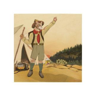"""Quadro De Madeira Escuteiros do gato """"é New Morning!"""" Impressão da"""