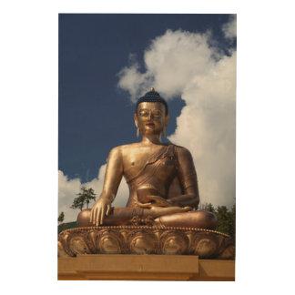 Quadro De Madeira Estátua de assento de Buddha