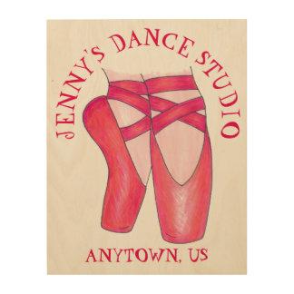 Quadro De Madeira Estúdio personalizado dos calçados de balé do