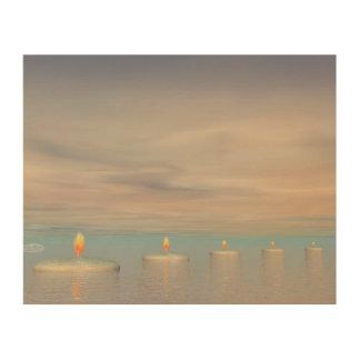 Quadro De Madeira Etapas da vela - 3D rendem