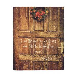 Quadro De Madeira Eu sou o verso da bíblia da porta