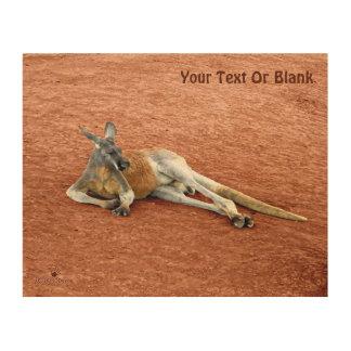 Quadro De Madeira Fanfarrão vermelho de descanso do canguru