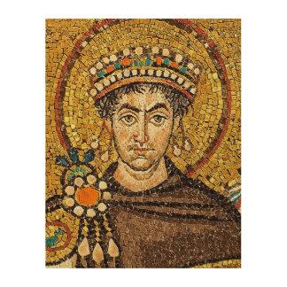 Quadro De Madeira Flavius Petrus Sabbatius Iustinianus Augustus