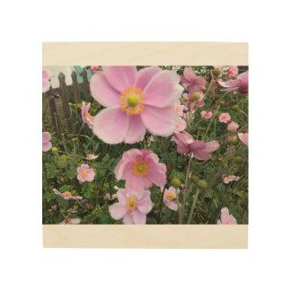 Quadro De Madeira Flores cor-de-rosa bonitas em Windsor Reino Unido
