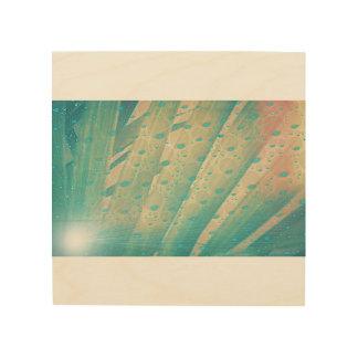 Quadro De Madeira Folhas