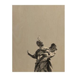 Quadro De Madeira Foto simples, moderna da gaivota sobre a estátua