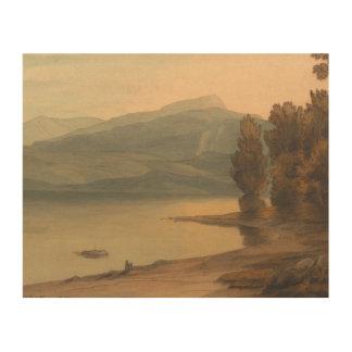 Quadro De Madeira Francis Towne - Windermere no por do sol