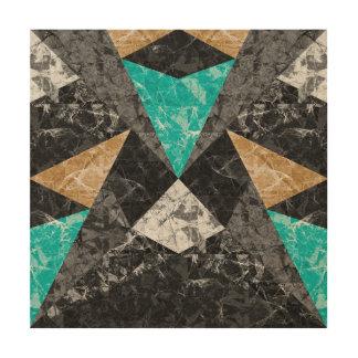 Quadro De Madeira Fundo geométrico G430 do mármore de madeira das