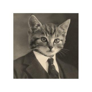 Quadro De Madeira Gato #1 do cavalheiro