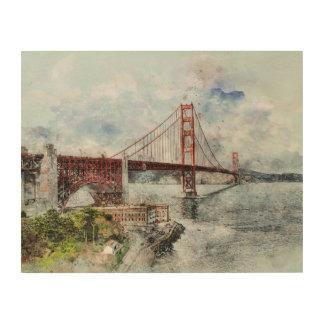Quadro De Madeira Golden gate bridge, San Francisco