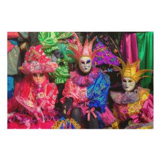 Quadro De Madeira Grupo no traje do carnaval, Veneza