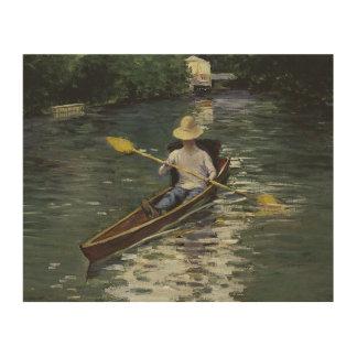 Quadro De Madeira Gustave Caillebotte - canoa no Yerres