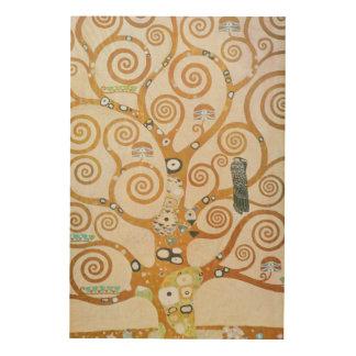 Quadro De Madeira Gustavo Klimt a árvore da arte Nouveau da vida