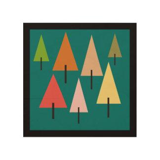Quadro De Madeira Impressão artística da floresta