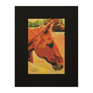Quadro De Madeira Impressão das canvas do cavalo