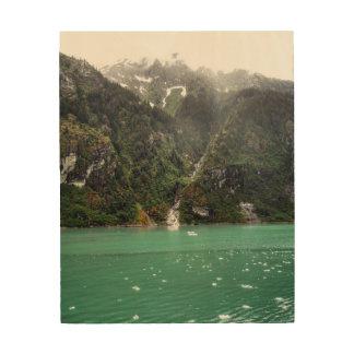 Quadro De Madeira Impressão de madeira da paisagem verde