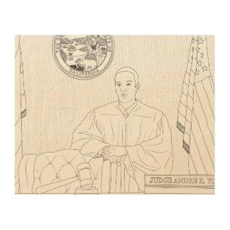 Quadro De Madeira Impressão de madeira de Dre do juiz honorável de